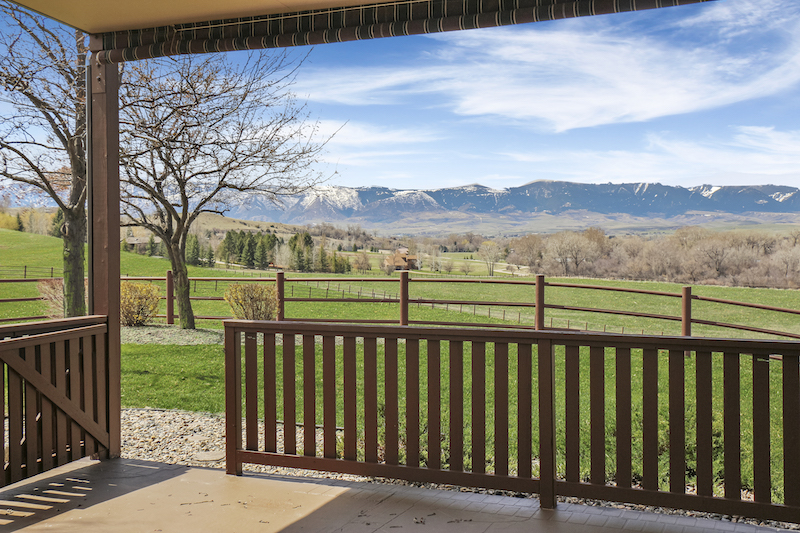 stunning views from the porch of yo equine ranch sheridan