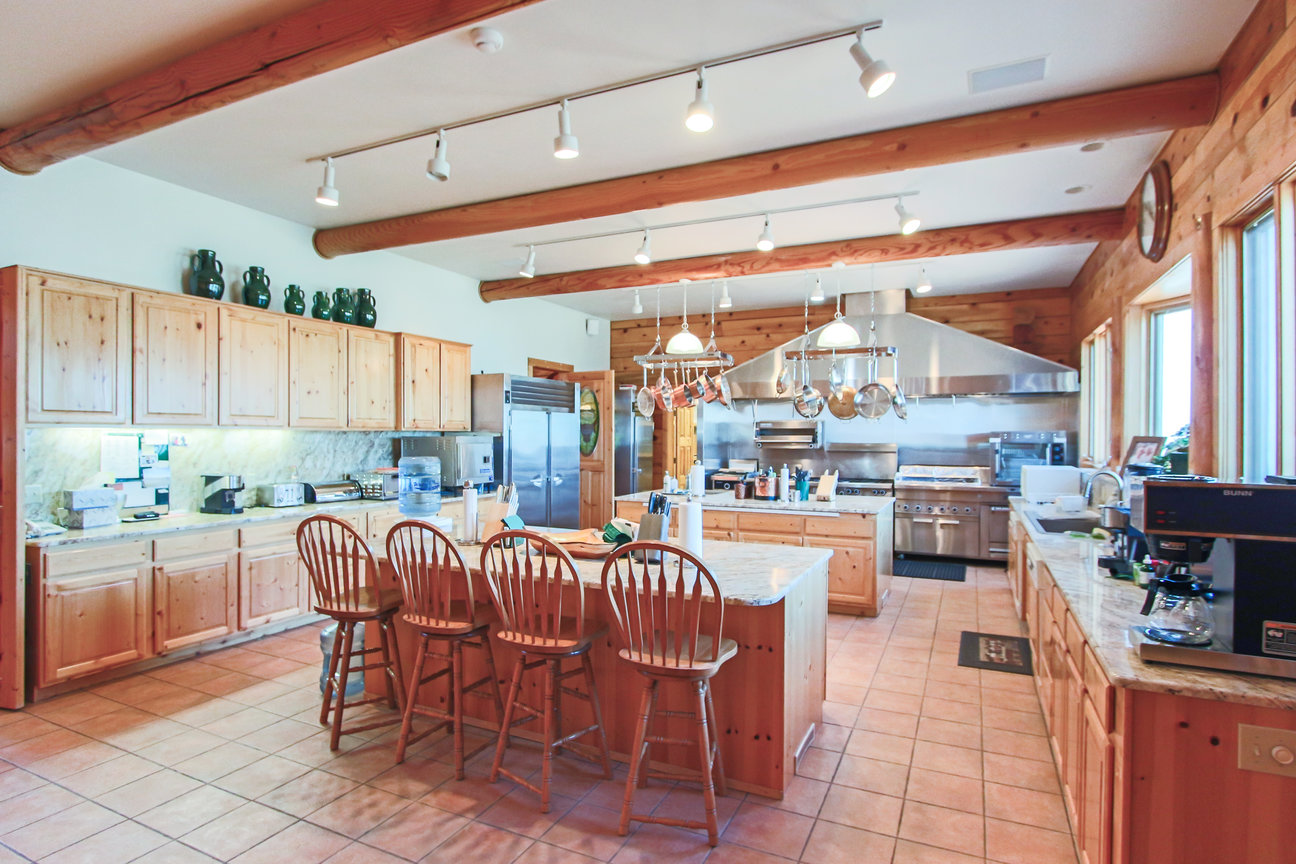 stunning gourmet kitchen at holy cow ranch