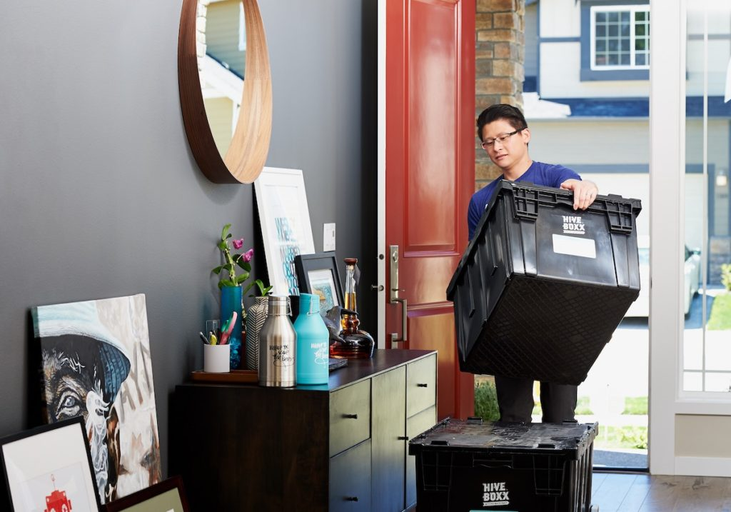 decluttering and cleaning a home